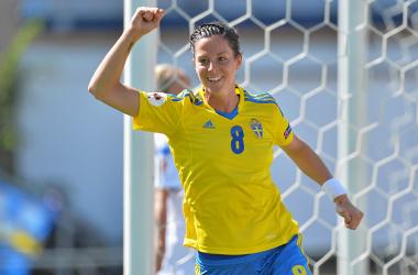 Suécia atropela a Islândia e avança às semi-finais da Euro feminina