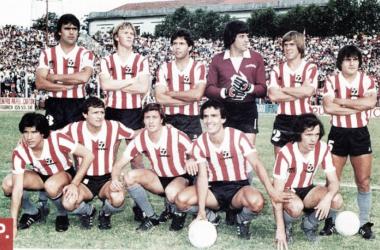 El 11 titular que se consagró Campeón del Metropolitano Soberanía 1982 | Foto: Estudiantes Oficial