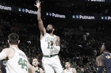Kyrie Irving dá show e Boston Celtics abrem vantagem na série contra Idiana Pacers