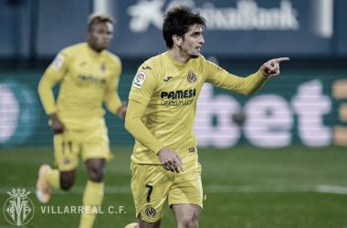 Gerard Moreno celebrando un gol | Foto: Villarreal CF