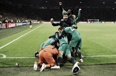 Com três gols na semifinal, Lucas classificou o Tottenham para a sua primeira final de Champions League (Foto: Divulgação/Tottenham)