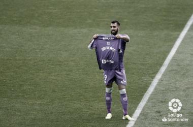 Celebración del 0-1 en el Martínez Valero | Foto: LaLiga