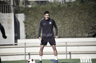 Juan Brandáriz durante un entrenamiento | Foto de Noelia Déniz, VAVEL