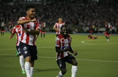 Chará y Teófilo Guitiérrez la dupla del momento en Junior y selección . Foto: Elheraldo.co