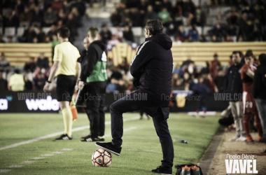 Ernesto Valverde durante la final de la Supercopa de Cataluña | Foto de Noelia Déniz, VAVEL