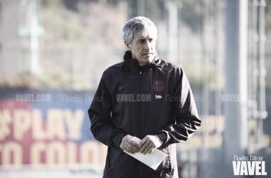 """Quique Setién: """"Nos falta contundencia para transformar el juego que hacemos en goles"""""""