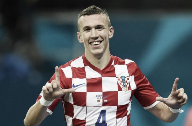 Perisic nets during Croatia's 2014 World Cup victory over Cameroon (Image source: www.caughtoffside.com)
