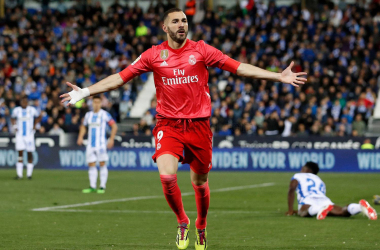 Benzema celebra el gol | Foto: Realmadrid.com