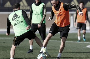 El Real Madrid se entrena pensando en el Espanyol