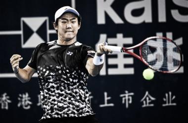 Nishioka en acción | Foto: ATP 250 de Shenzhen