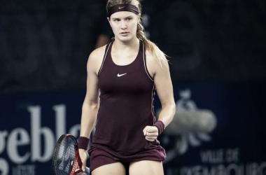 Bouchard, festejando la victoria. | Foto: WTA International de Luxemburgo