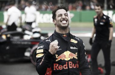 El australiano festejando la pole | Foto: Fórmula 1