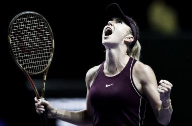 Svitolina festejando el título | Foto: WTA