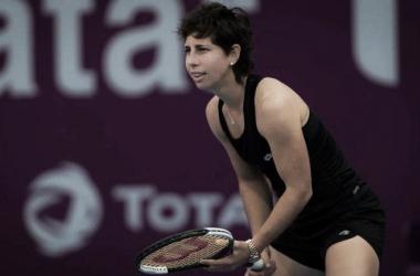 Carla en acción en Doha | Foto: WTA