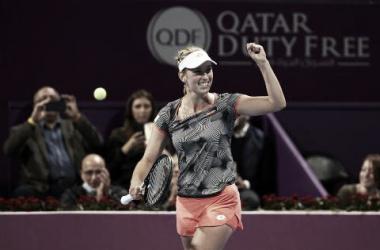 La belga y el puño apretado   Foto: WTA