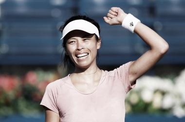 Hsieh festeja el éxito | Foto: WTA