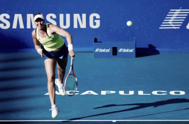 Haddad Maia post servicio | Foto: WTA International de Acapulco