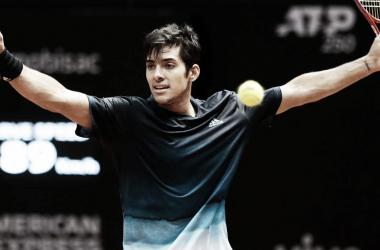 Garín festeja su pase a la final | Foto: ATP 250 de San Pablo