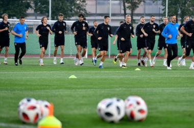 Uno scatto dall'ultimo allenamento della Croazia. | @HNS_CFF, Twitter.