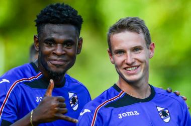 Duvàn Zapata e Jakub Jankto sono stati compagni solo per pochi giorni. | @sampdoria, Twitter.
