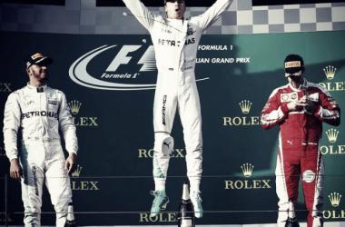 El podio del Gran Premio de Australia. Foto: Fórmula 1