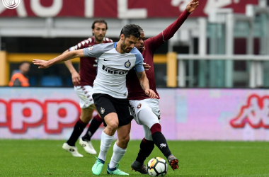 Candreva e Joel Obi in uno scatto del match odierno. | Inter, Twitter.