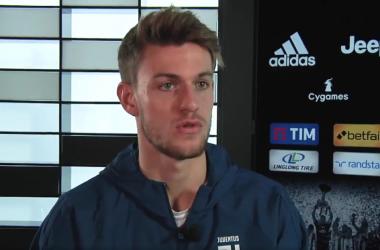 Daniele Rugani durante l'intervista di oggi. | JuventusFC, Twitter.