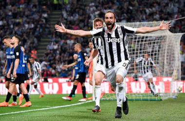 Gonzalo Higuain dopo il gol decisivo odierno. | JuventusFC, Twitter.