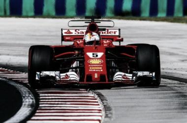 Vettel volando en Budapest | Foto: Fórmula 1