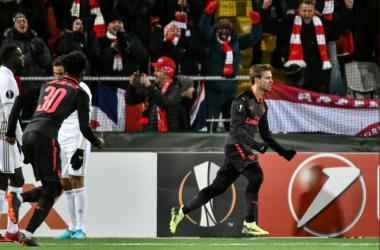 Non è stato il gol più difficile della carriera per Nacho Monreal... | Arsenal FC, Twitter.