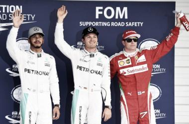 Los tres primeros de la 'Qualy' | Foto: Fórmula 1