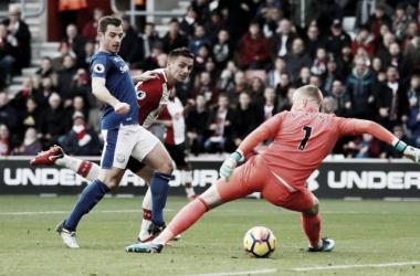 Dusan Tadic ha sbloccato così il match. | Premier League, Twitter.
