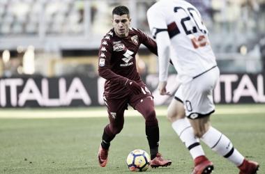 Iago Falqué in azione durante il match. | torinofc.it