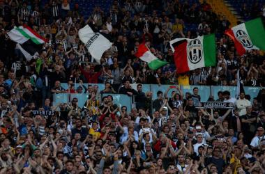 I festeggiamenti dei tifosi bianconeri all'Olimpico. | La UEFA, Twitter.