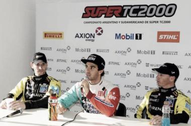 Conferencia de prensa de los tres primeros | Foto: Súper TC 2000