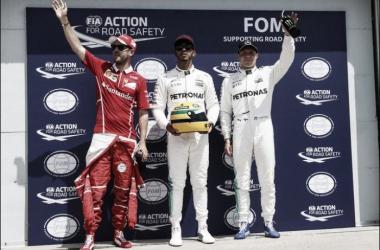 Los tres primeros de la clasificación | Foto: Fórmula 1