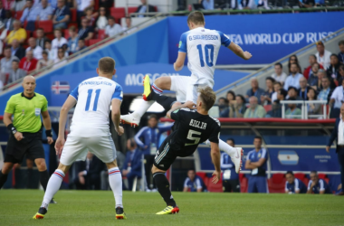Uno scatto dal match di ieri. | @Argentina, Twitter.