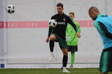 André Silva durante un recente allenamento col Portogallo. | André Silva, Twitter.