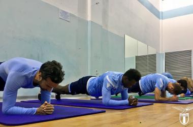 Uno scatto dall'allenamento biancoceleste di oggi. | S.S. Lazio, Twitter.