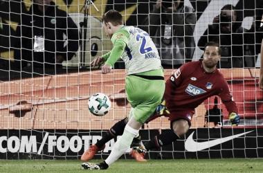 Maximilian Arnold ha oggi così sbagliato un calcio di rigore. | TSG 1899 Hoffenheim, Twitter.