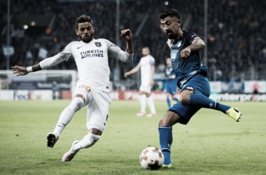 Kemir Demirbay, uomo-partita, in azione durante il match. | TSG 1899 Hoffenheim, Twitter.