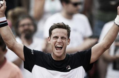 Schwartzman con los breazos en alto | Foto: ATP 500 de Hamburgo