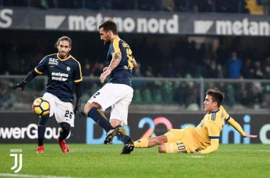 Il gol splendido di Dybala all'andata. | JuventusFC, Twitter.