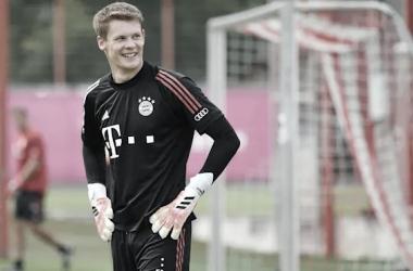 Nubel durante un entrenamiento / Web: Bayern de Munich oficial