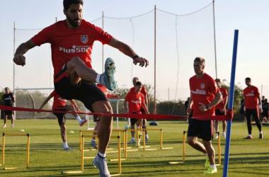 El equipo entrena con hasta tres sesiones diarias | Foto: Á. Gutiérrez - Atlético de Madrid