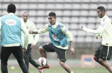 Atacante foi a novidade do treino desta terça-feira (24) (Foto: Rafael Ribeiro/CBF)