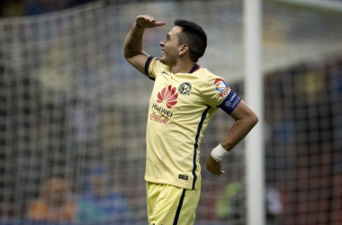 Rubens Sambueza (América) celebrando un gol para su equipo. (Foto: Univisión)