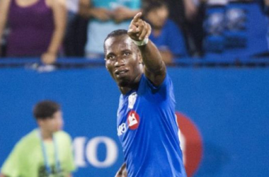 Didier Drogba and the Montreal Impact are coming to the StubHub Center on Satuday (Photo provided by Graham Hughes-The Canadian Press via AP.)