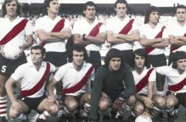 Los once que salieron a la cancha contra Boca en el 1974. Foto: La Página Millonaria.