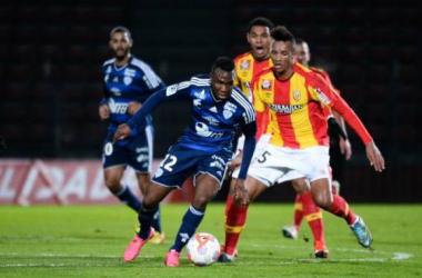 Jean-Philippe Gbamin et ses partenaires voudront confirmer contre Dijon (Source : http://www.foot-national.com)